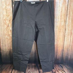 Eileen Fisher Organic Cotton Side Zip Crop Pant